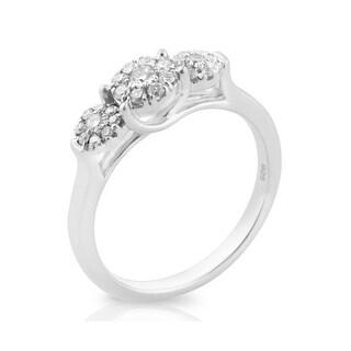 Lovely 0.35ct Round Brilliant Cut Natural Diamond Fancy Designer Ring