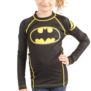 Fusion Fight Gear Kid's Batman 1989 Black Logo Long Sleeve Rashguard