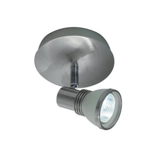 Bazz Lighting PX7081BS Accent Series Single-Light Semi Flush Ceiling Fixture, Finished in Brushed Chrome - Brushed Chrome