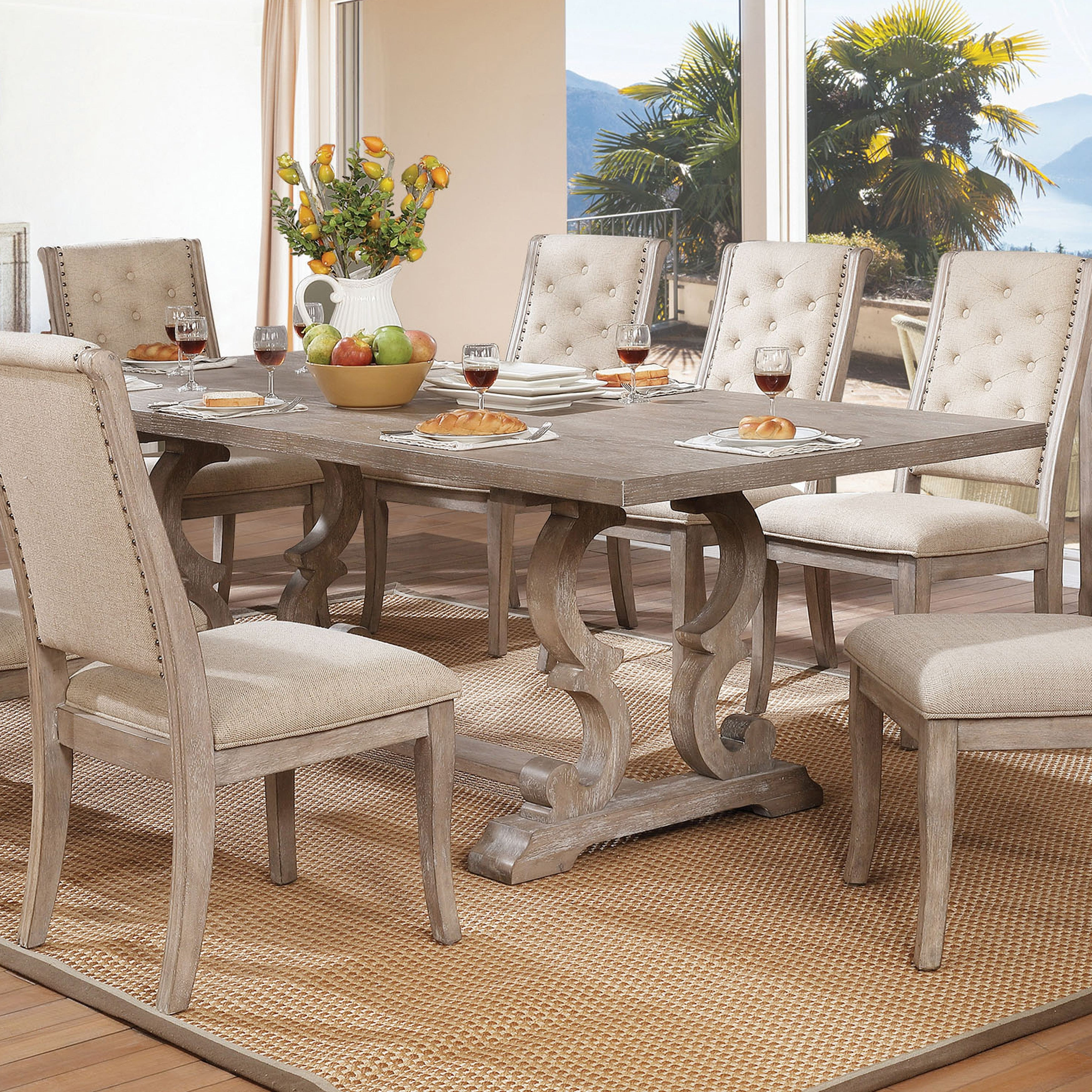 Picture of: The Gray Barn Windswept Rustic Finish Dining Table With Leaf On Sale Overstock 23570126