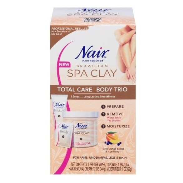 Nair Brazilian Spa Clay Total Care Body Trio, 12 Ounce - ORANGE