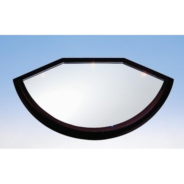"""Pack of 2 Brown LED Trimmed Mirror Base with Batteries 18"""""""