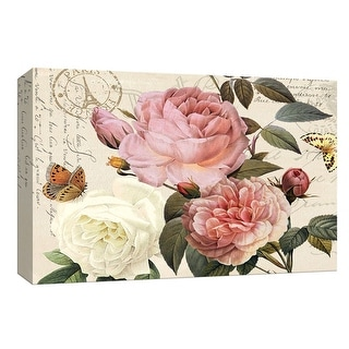 """PTM Images 9-148102  PTM Canvas Collection 8"""" x 10"""" - """"Botanical Sonata II"""" Giclee Roses Art Print on Canvas"""