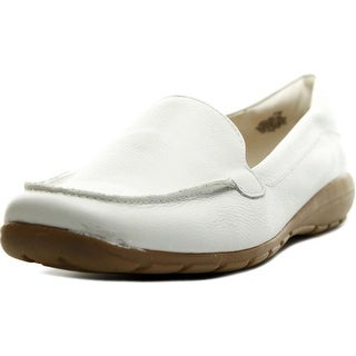 Easy Spirit Abidet Women WW Round Toe Leather White Loafer