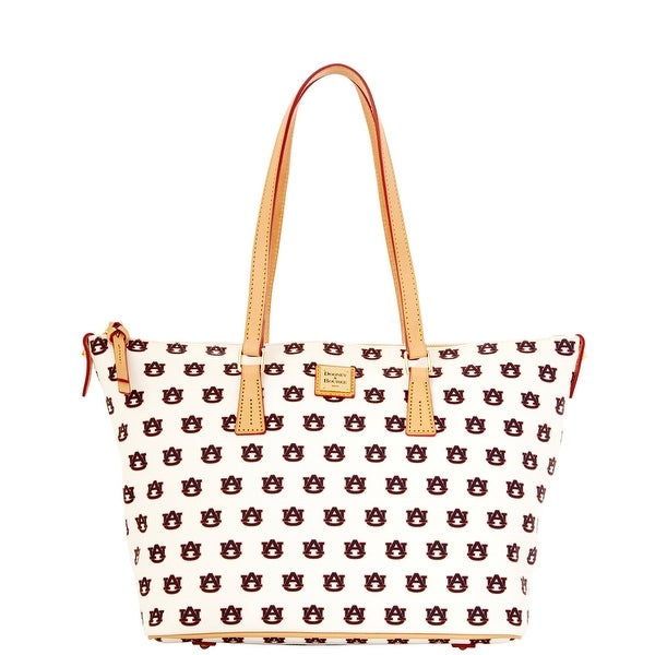 Dooney & Bourke NCAA Auburn Zip Top Shopper (Introduced by Dooney & Bourke at $248 in Nov 2014) - White