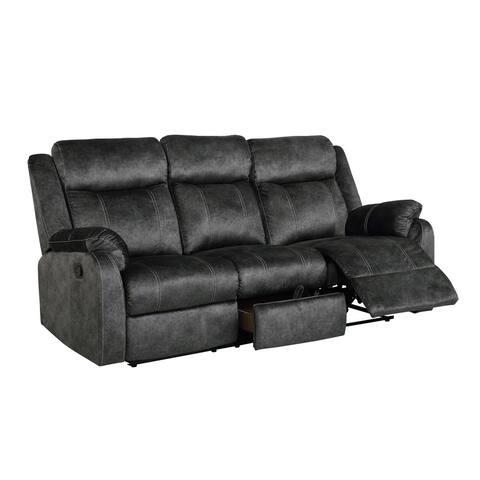 Gobal Furniture Domino Granite Reclining Sofa