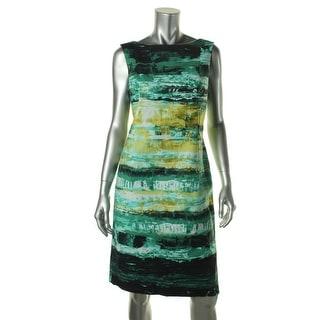 Lafayette 148 Womens Printed Sleeveless Wear to Work Dress - 16