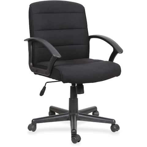 "Lorell Fabric Task Chair - Black Fabric Seat - Black Fabric Back - 26.8"" Width x 25.8"" Depth x 39"" Height - 1 Each"
