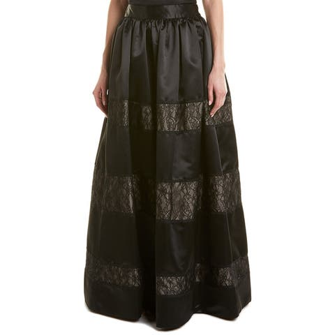 Alice + Olivia Prima Silk-Trim Ball Gown Skirt