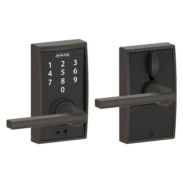 Schlage FE695-CEN-LAT Century Touch Entry Leverset with Latitude Lever