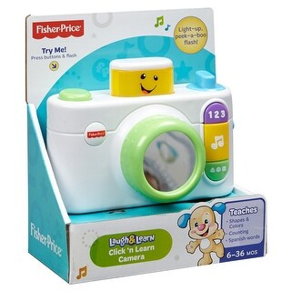 Fisher-Price Laugh & Learn Click 'n Learn Camera Toy, White