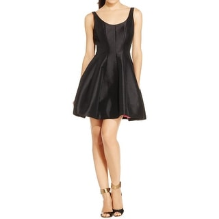 Betsy & Adam Womens Petites Party Dress Fit & Flare Above Knee