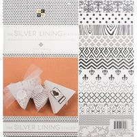 """Dcwv Single-Sided Cardstock Stack 12""""X12"""" 48/Pkg-Silver Lining, 12 Designs/4 Each"""