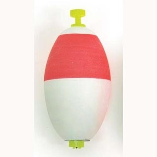Eagle Claw Float Oval Foam Weighted 50ct Red/White 21/2'