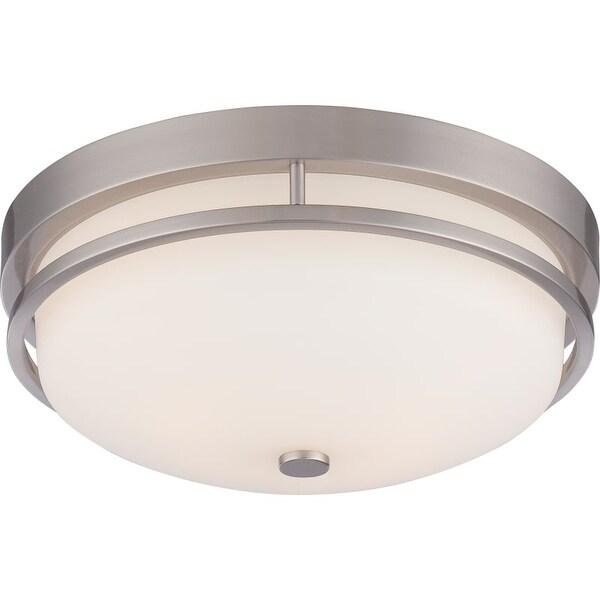 "Nuvo Lighting 60/5486 Neval 2 Light 13"" Wide Flush Mount Bowl Ceiling Fixture"