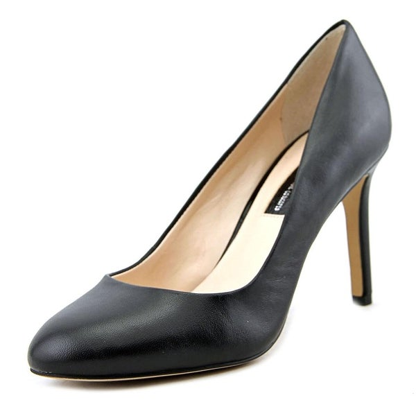 INC International Concepts Bensin Women Round Toe Leather Black Heels