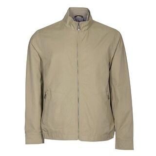 Tasso Elba Full Zip Windbreaker Jacket Washed Khaki X-Large