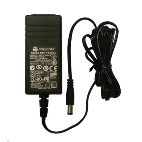 Polycom VVX Business Media Phone Power Supply For VVX 300, 310, 400, 410, 48V & 0.4A - Black