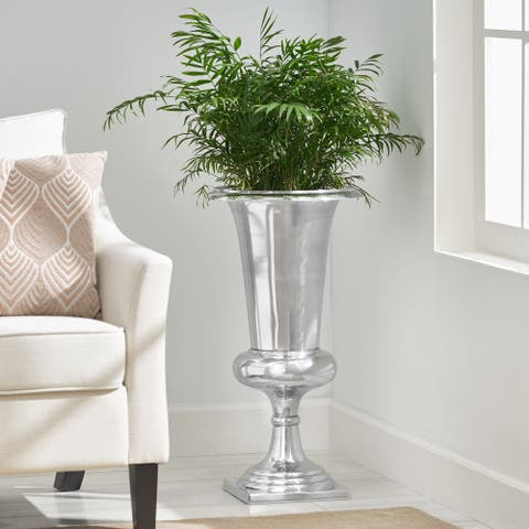 Alledonia Indoor Aluminum Handcrafted Planter by Christopher Knight Home