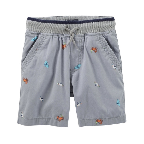 OshKosh Bgosh Baby Boys Pull-On Canvas Shorts Khaki