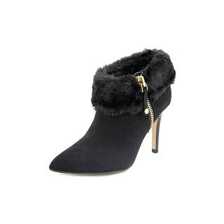 Marc Fisher Cahoot Women Pointed Toe Suede Black Ankle Boot