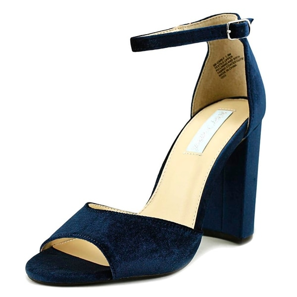 Betsey Johnson Carly Women Open Toe Canvas Blue Sandals