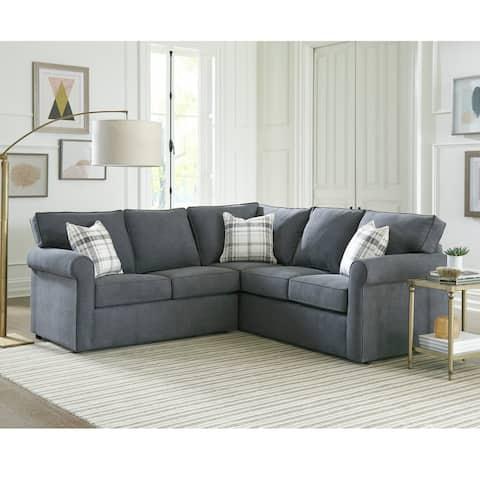 Baron Grey Sectional Sofa Bed with Queen Gel Memory Foam Mattress