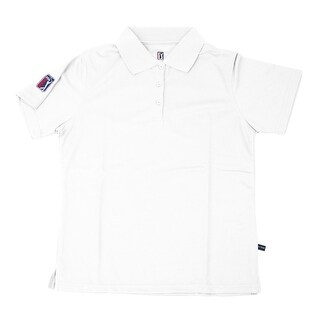 PGA TOUR Women's Polo Shirt - White Solid - Small