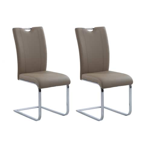 Somette Melinda Contemporary Handle-Back Side Chair, Set of 2
