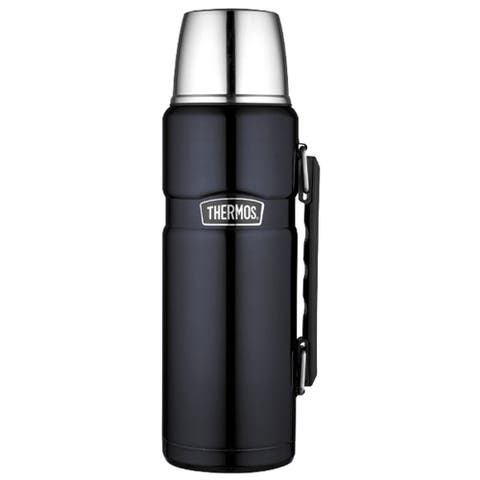 Thermos Stainless King Vacuum Insulated Beverage Bottle - 40 oz. - Stainless Steel/Midnight Blue
