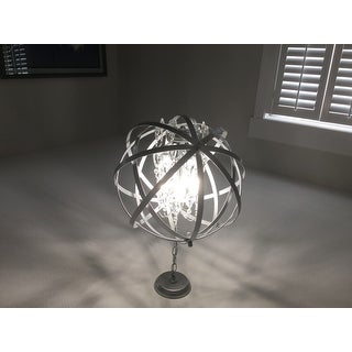 Benita Matte Silver 4-light Metal Crystal Orb Chandelier