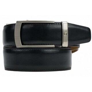 Nexbelt Portofino Black Leather Premium Ratchet Dress Belt