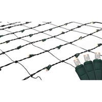 4' x 6' Warm White LED Net Style Christmas Lights - Green Wire