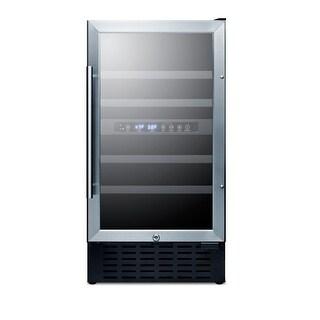 Summit SWC182Z 18 Inch Wide 28 Bottle Capacity Built-In Wine Cooler with Door Lo - glass / black - N/A