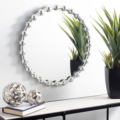 """Safavieh Eden Silver 25-inch Round Decorative Mirror - 25"""" x 25"""" x 1.8"""""""