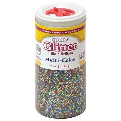 Pacon - Spectra Glitter Sparkling Crystals - 4 oz. Jar - Silver