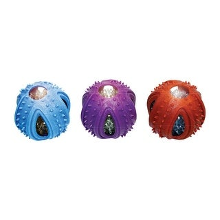 """Multipet 51087 TPR Ball Dog Toy, Multicolor, 3.5"""""""