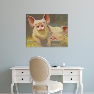 Easy Art Prints Carolyne Hawley's 'Life as a Pig II' Premium Canvas Art