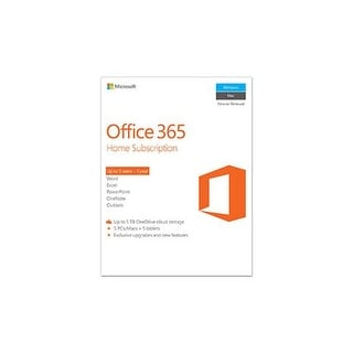 Microsoft Office 365 Home Subscription 6GQ-00643 Office 365 Home Subscription