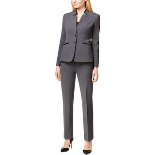 Tahari ASL Womens Daisy Pant Suit Faux Trim 2PC - 6