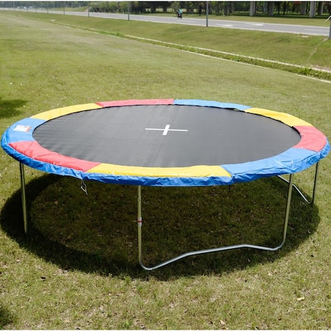 Colorful Safety Round Spring Pad Replacement Cover for 14' Trampoline - Multi - 14 ft