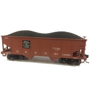 HO Scale - Bowser BOW41128 HO GLa 2-Bay Hopper BR&P #14451/Mineral Red - mineral red