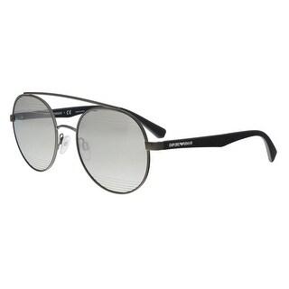 Emporio Armani EA2051 30106G Matte Gunmetal Aviator Sunglasses - 53-20-140
