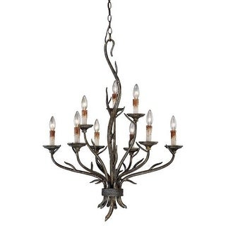 Vaxcel Lighting H0073 Monterey 9 Light Two Tier Chandelier - 28 Inches Wide