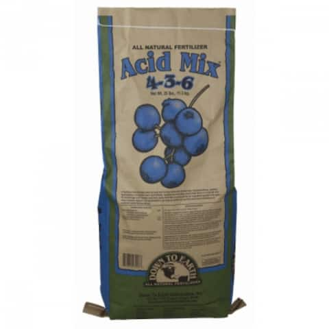 Down To Earth 03227 Acid Mix All Natural Fertilizer, 25 Lbs, 4-3-6