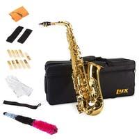 LyxJam Alto Saxophone – E Flat Brass Sax Beginners Kit