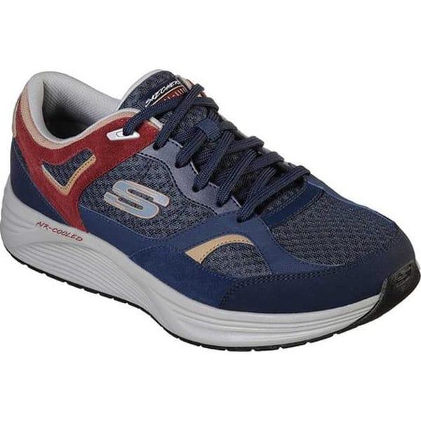 cb78dfc07ad7 Shop Skechers Men's Skyline Alphaborne Sneaker Navy/Red - Free ...