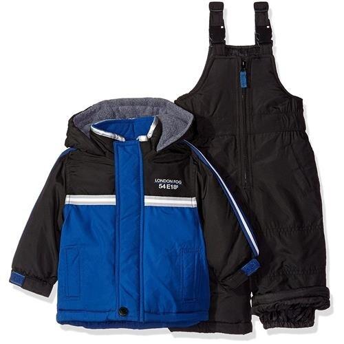 London Fog Boys 12-24 Months Colorblock Snowsuit Set