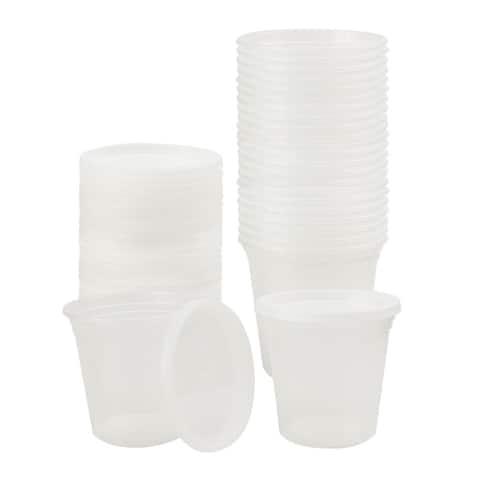 24pcs 24oz Plastic Food Storage Meal Prep Soup Containers Box with Lids Leak Resistant Stackable Reusable Microwave Freezer Safe