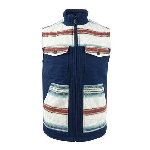 Tommy Bahama Men's Island Serape Stripe Full-Zip Vest - Ocean Deep